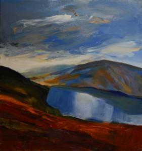 24a.Wicklow Mountains ,Ireland ,,acrylique et huile sur toile, en plein air,,Mariusz Kiryła 2016r. (3 z 12)