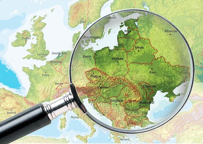 Międzymorze na mapie