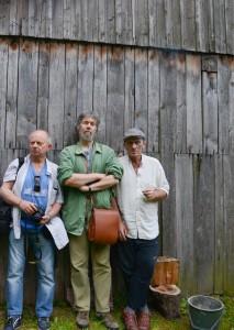 Od lewej - Tadeusz Puchałka, Lech L. Przychodzki i Mariusz Kiryła. Krasnobród, rok 2016
