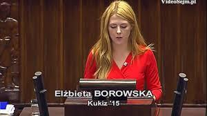 Czym zajmuje się w Sejmie poseł Elżbieta Borowska (Kukiz'15)?