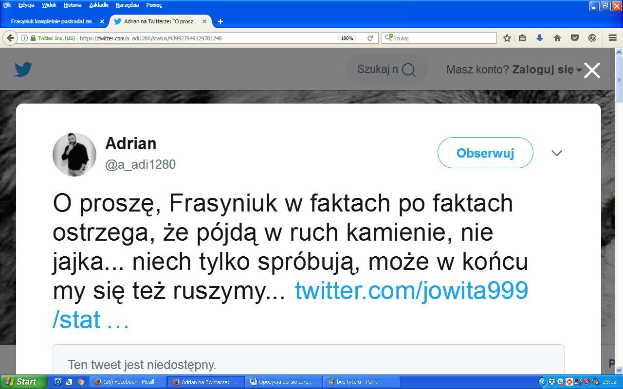 Adrian o Frasyniuku