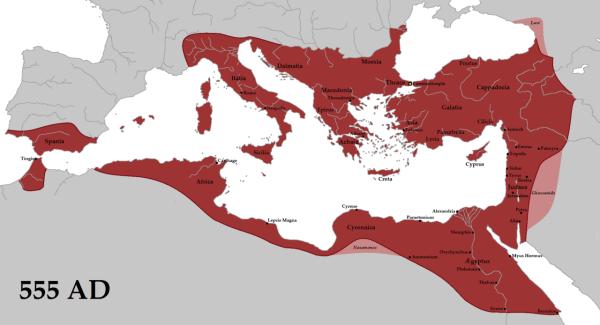 Bizancjum rok 555 AD