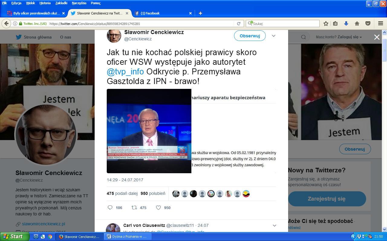 Cenckiewicz o Sklepowiczu Twitter
