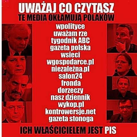 Media okłamujące Polaków wg KOD