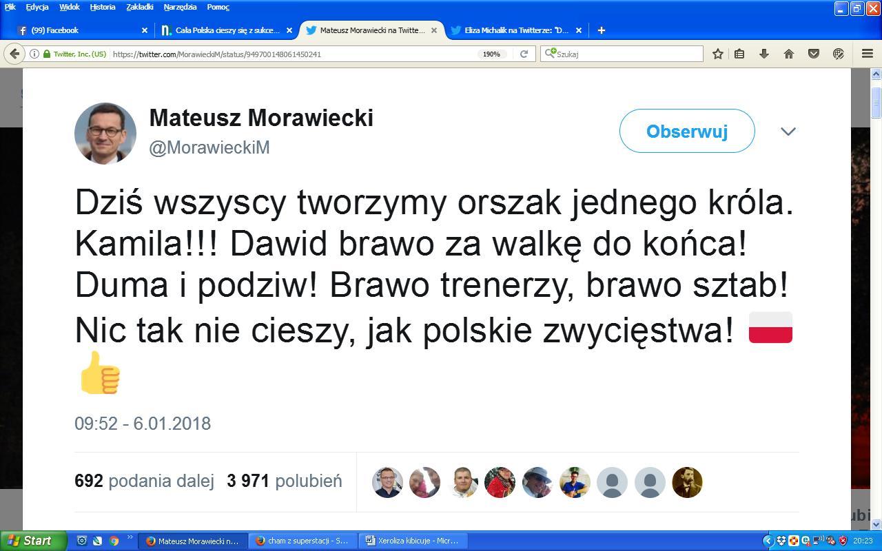 Morawiecki Stoch gratulacje