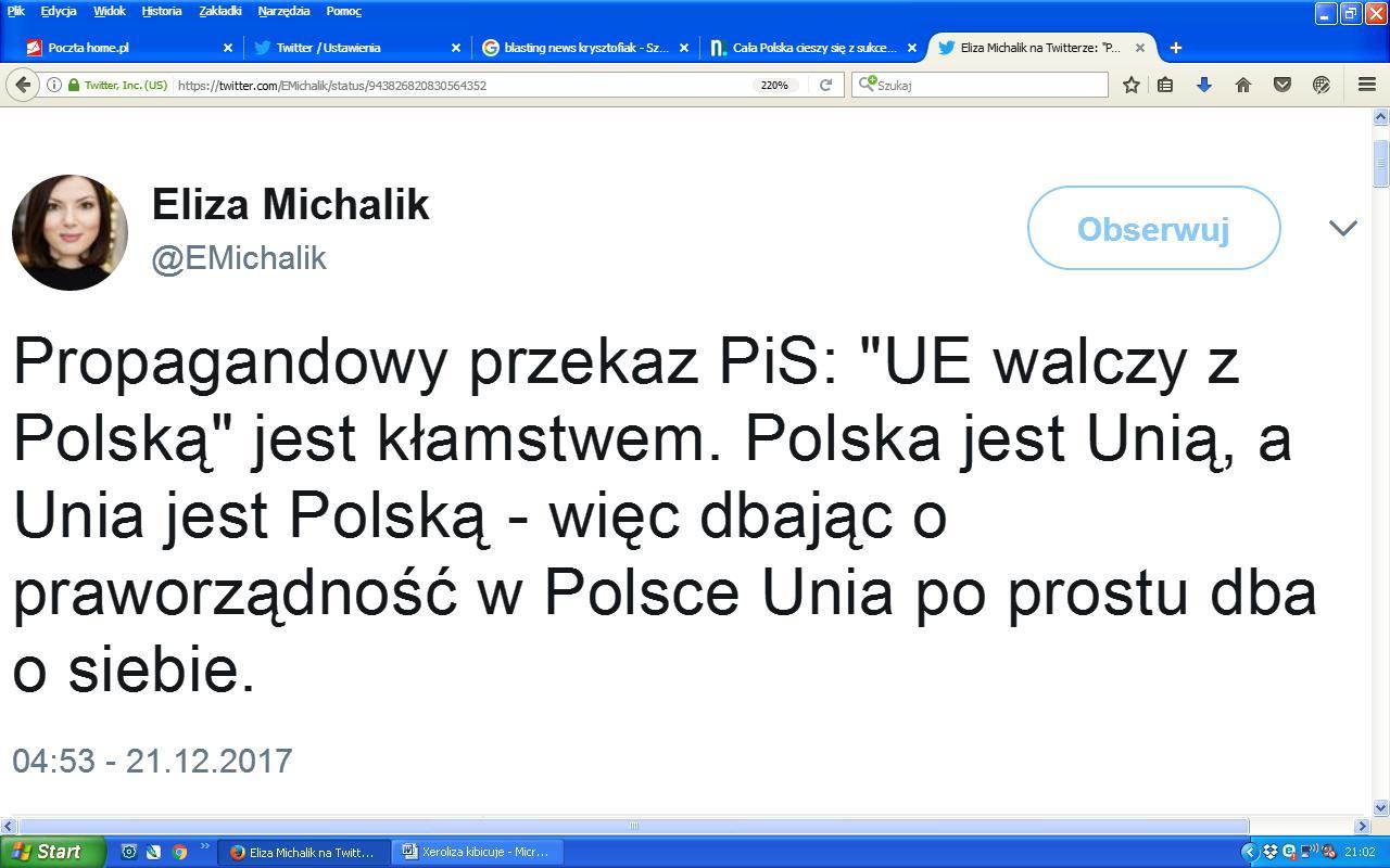 Xeroliza Polska jest Unią