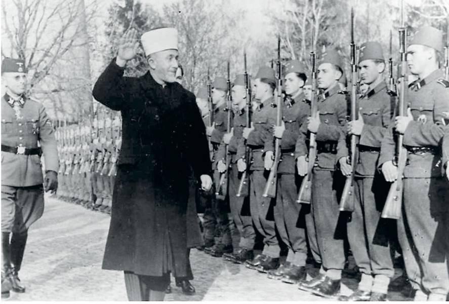 al-Husajni wizytuje bośniacki muzulmański legion SS