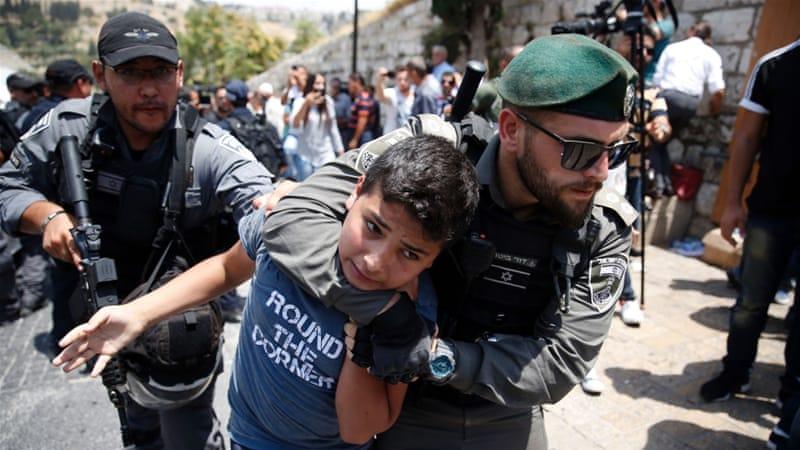 dziecko palestyńskie aresztowane
