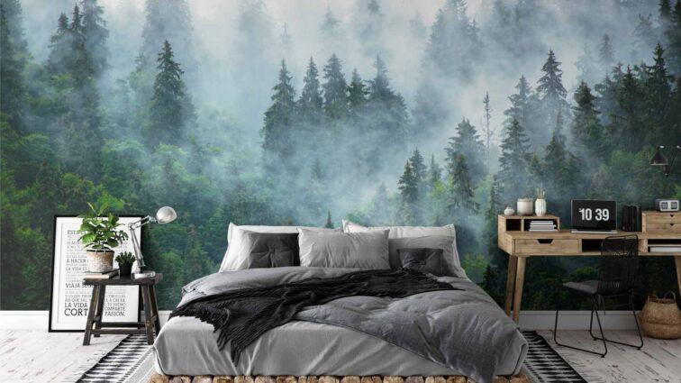 Las we mgle. Fototapeta, która nie wychodzi z mody