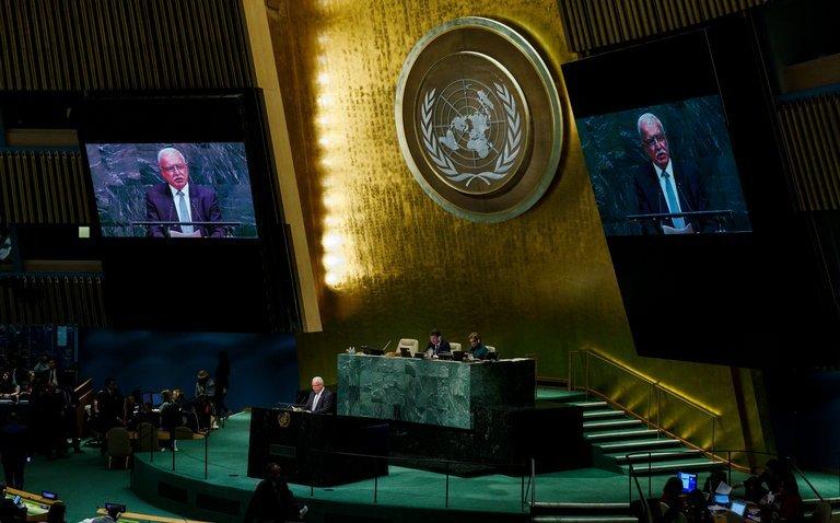 USA przegrały głosowanie w ONZ 27:1 a dokładniej 128:9 + 56 tchórzy.