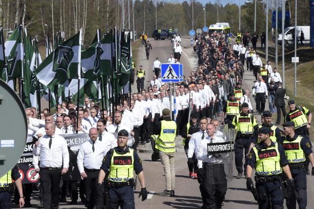 neonaziści w szwecji