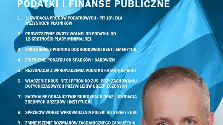 Podatki i finanse publiczne – program Wojciecha Podjackiego.
