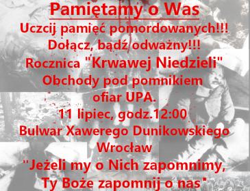 77 rocznica Krwawej Niedzieli, jako kulminacja holokaustu narodu polskiego we wschodnich województwach II RP